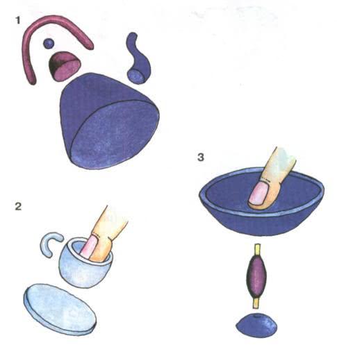 Простые поделки из пластилина - Кукольная посуда Вырежьте из картона круг и обмажьте его пластилином. Для этого пластилин отрывайте небольшими кусочками, разминайте его в тонкую лепёшечку и