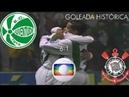 GOLEADA HISTÓRICA - Juventude 6 x 1 Corinthians - Brasileirão 2003 - 28/09/2003 - Globo