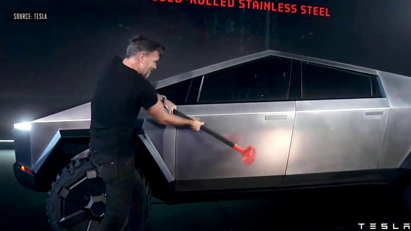 Tesla CyberTruck Glass Failed Embarrassed Elon Musk