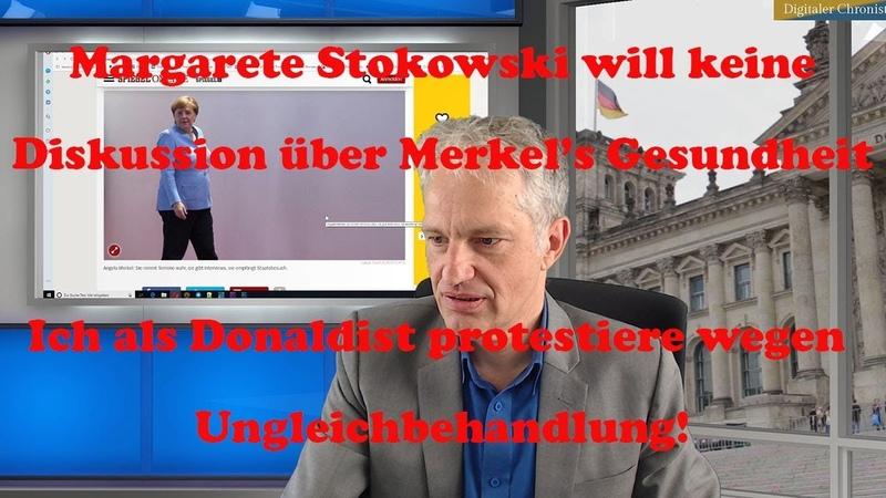 Margarete will keine Diskussion über Merkels Zittern|Ich als Donaldist protestiere!