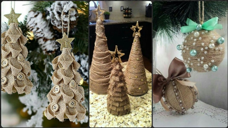 New Jute Christmas Ornaments Decoration Ideas