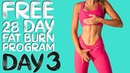 DAY 3 FREE 28 DAY WORKOUT CHALLENGE Abs Total Body Fat Burn Timer Modifications Included
