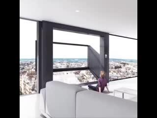 Bloomframe window & balcony by hofman dujardin