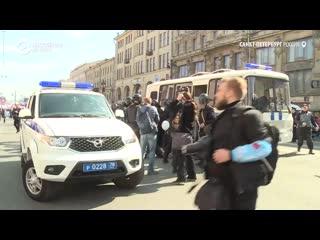 Задержания митингующих в Петербурге
