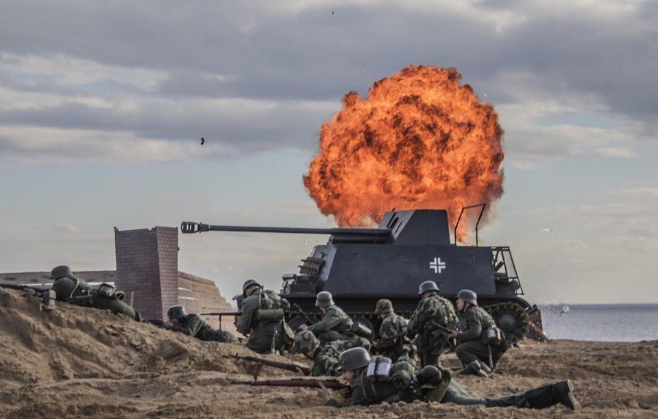 Военную реконструкцию «Последний бой» покажут в Полежаевском парке