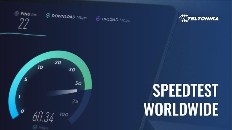 Teltonika Industrial Cellular 4G LTE Routers Speedtest in real-world conditions