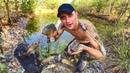 Ловля неводом в лесном пруду! Охота на кабана! Щука с овощами и маслятами.