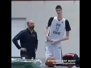 Strength of Body. Самый высокий баскетболист в мире
