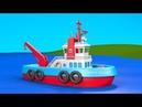 Развивающие мультики для детей от 3 лет. Конструктор собираем корабль буксир. Выпуск 5.