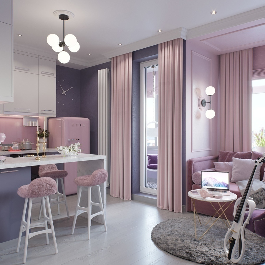 Проект квартиры для молодой девушки