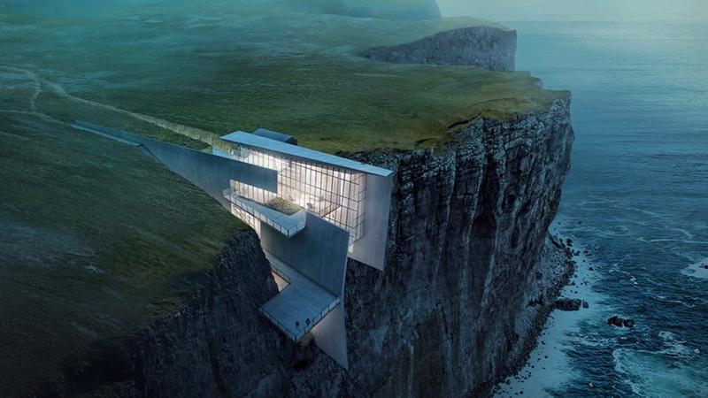 Уникальные дома на скалах