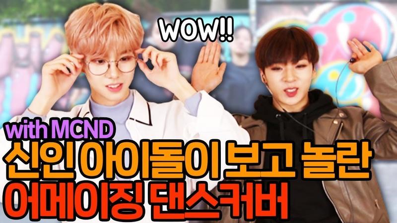 신인 아이돌이 보고 놀란 댄스실력 ㅣMCND 'TOP GANG' 리액션