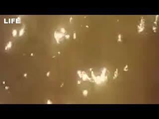Момент крушения украинского Боинга в Иране
