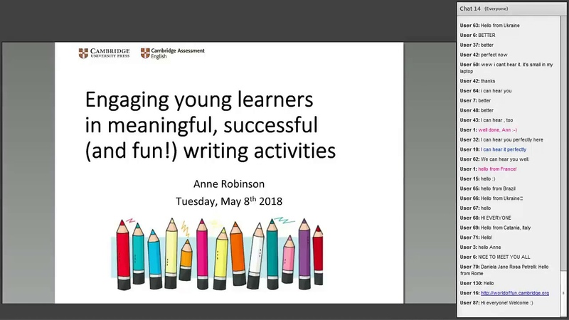 Engaging young learners in meaningful, successful and fun! writing activities