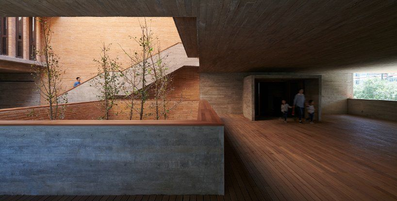 Changjiang art museum by Vector architects is an oasis Amid Rapid urban development