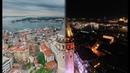İstanbul Day Night Aerial View and Drone Footage Havadan Çekim