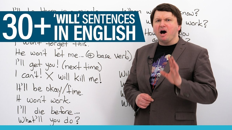 """Learn 30 common """"WILL"""" sentences in English"""