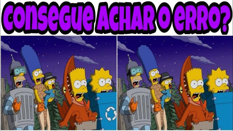 Os Simpsons - ache o erro - ache o erro em 30 segundos
