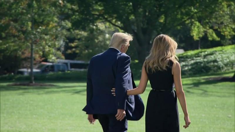 President Trump First Lady Melania Trump depart White House to head to final presidential debate