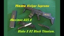 Обзор ножей Кизляр Суприм. Kizlyar Supreme. Ножи Maximus AUS 8 и Bloke X D2 Black Titanium.