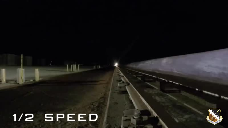 Hypersonic sled travels at 6 599 mph Mach 8.6 at Holloman Air Force Base
