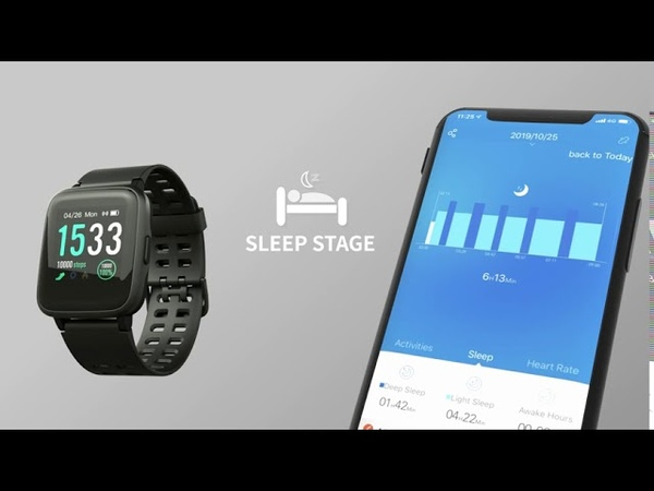 Smart Watch for Android and iOS Phone IP68 Waterproof Fitness Tracker Watch with Hea