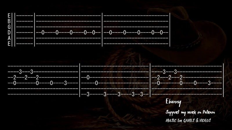 Western Music Good Bad Ugly Full Acoustic Guitar Tab by Ebunny Fingerstyle How to Play