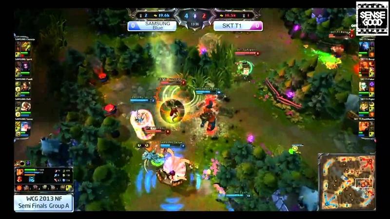 [LOL 2013 World Cyber Games Korea Qualifiers RO4 Group A] SK Telecom T1 vs Samsung Blue - Game 1