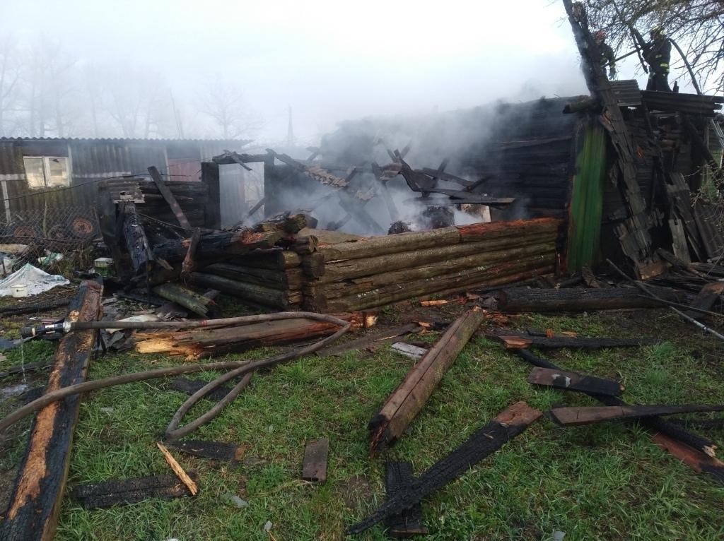 Мужчина погиб при пожаре жилого дома в Лидском районе.