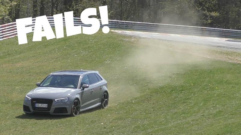 Audi RS3's LOVE to Understeer on the Nürburgring
