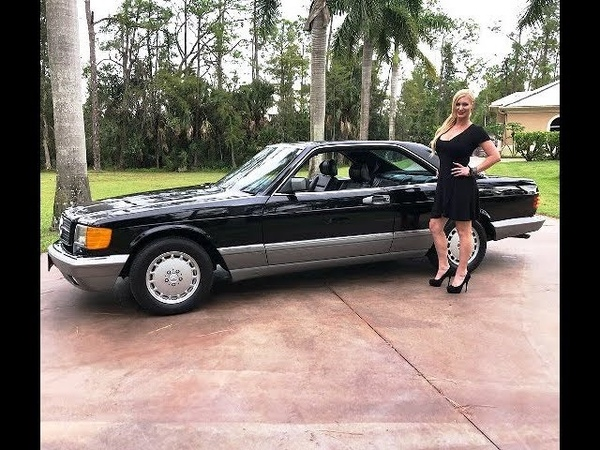 1986 Mercedes Benz 560SEC W126 Review w MaryAnn For Sale by AutoHaus of Naples
