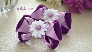 Нарядные Бантики Канзаши Резинки МК Kanzashi Flowers Bows Flores Lacos