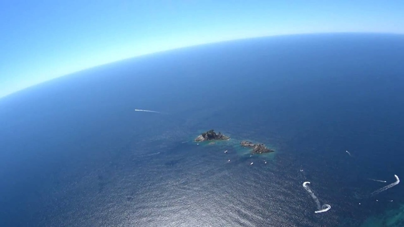 Полет над морем параплан Черногория Петровац