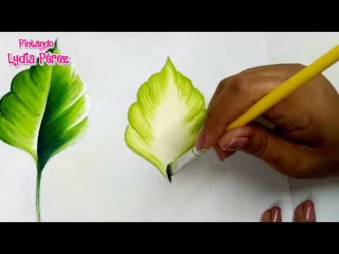 Pintura En Tela Para Principiantes Hojas Para Flores How To Paint Leaves