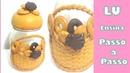 DIY_☆Pote de biscuit para biscoitos com molde caseiro _ LU Ensina Passo a Passo