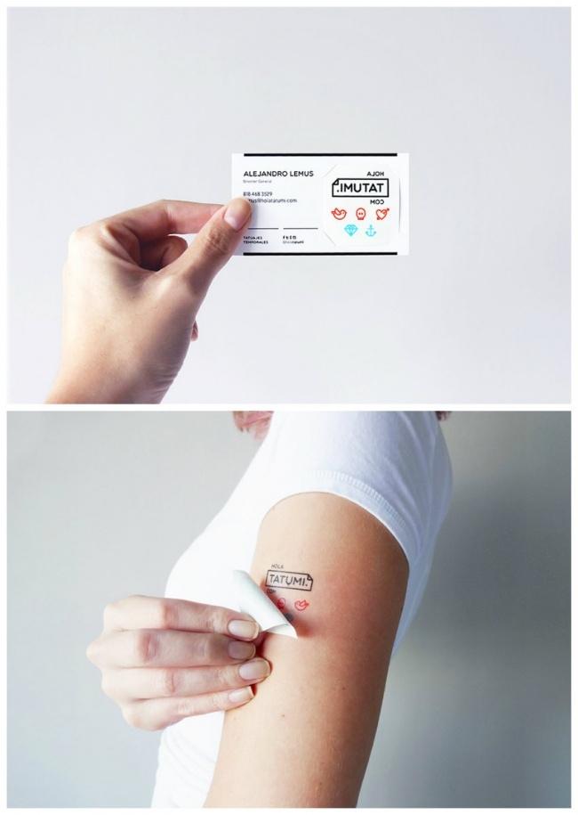 Временная татуировка и визитка тату-салона по совместительству Добавьте описание
