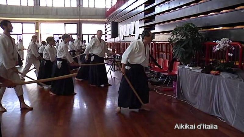 Bokken yokomenuchi shihonage - tre forme