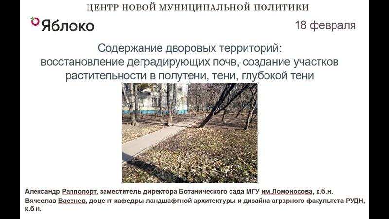 Содержание дворовых территорий восстановление деградирующих почв создание участков растительности