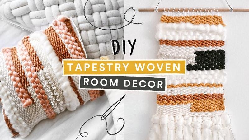 DIY Pinterest Inspired Tapestry Room Decor $5 DIY Weaving Loom Lone Fox