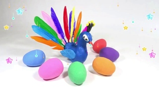 How To Make Peacock With Play Doh Easily. Crafts for Kids. Tutorial Video.
