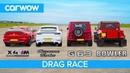 BMW X4M v AMG G63 v Cayenne Turbo v Bowler Bulldog V8 DRAG RACE ROLLING RACE BRAKE TEST