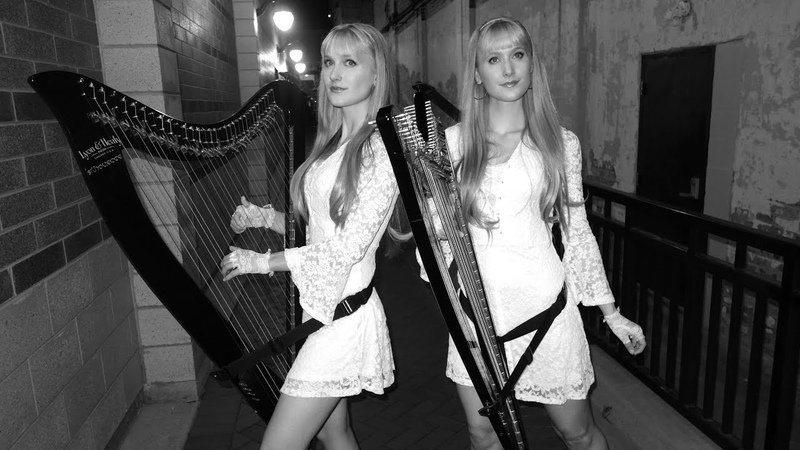 THE SOUND OF SILENCE Harp Twins Camille and Kennerly