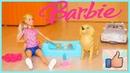 Распаковка игрушки BARBIE Собака рожает! Новая кукла с собакой и щенками Беременная собачка у БАРБИ
