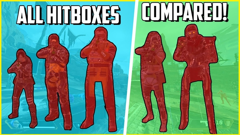 All Apex Legends Season 4 Hitboxes Ranked Animations Hitbox Size Glitched Areas Analysis