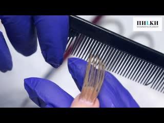 Наращивание волос на ногтях в студиях ПИLКИ