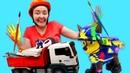 Веселая школа для малышей— Развивающее видео про стройку для самых маленьких имультики про машинки