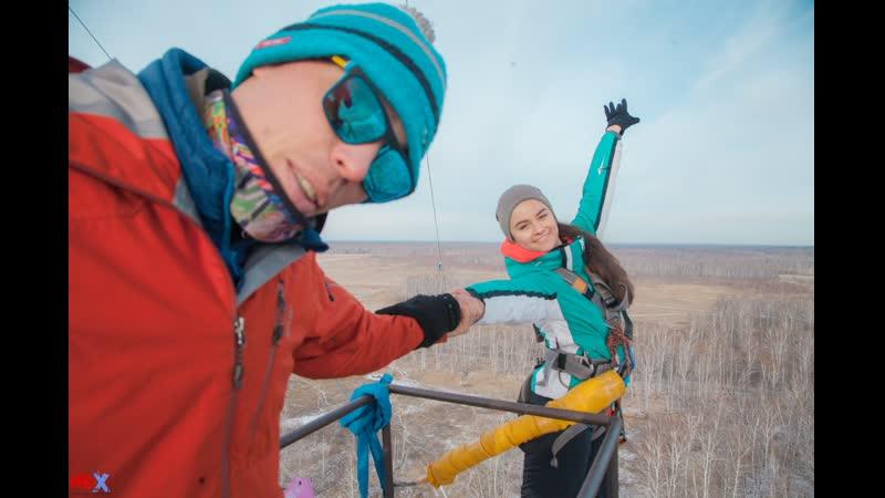 Alena P. прыжок FreeFallProX команда ProX74 объект AT53 Chelyabinsk 2019 1 jump RopeJumping