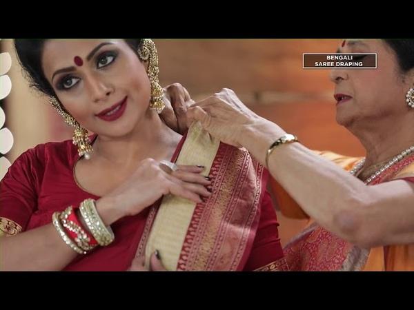 Bengali Saree Drape alias Box Pleat Drape by Kalpana Shah
