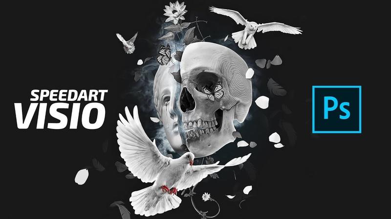 Visio Wallpaper Photoshop Making Of Process Digital Art Speedart 2K 2020