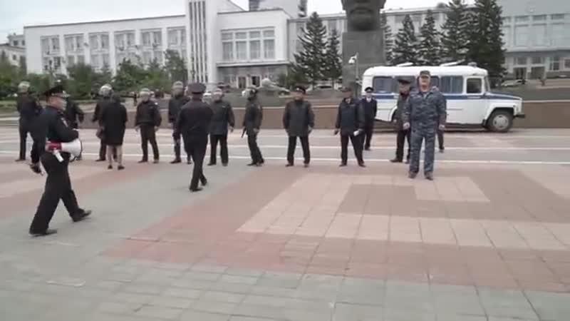 Росгвардия Бурятии разогнала мирную акцию протеста на площади Советов